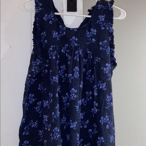 Lucky Brand Blue Floral Tank Top